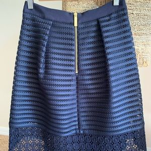 Ted Baker Navi skirt, in a perfect condition. Sz 1